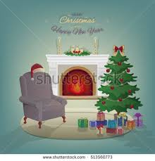 santa claus fireplace stock images royalty free images u0026 vectors