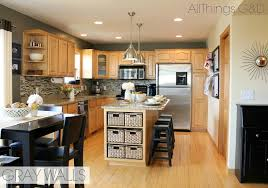 kitchen mesmerizing maple kitchen cabinets and blue wall color 5