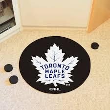 Toronto Area Rugs Maple Leafs Hockey Puck Shaped Area Rug 27