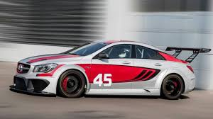 mercedes racing car the mercedes cla45 amg becomes a titilating race car