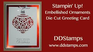 stin up embellished ornament card