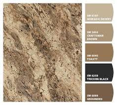 paint colors that match rainforest brown granite google search