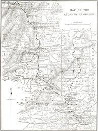 Map Of Atlanta Atlanta Campaign 150 The Battle Of Kennesaw Mountain