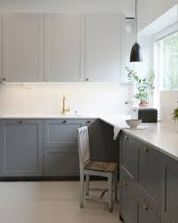 ikea kitchen cabinet frame mix of greys a s helsingö s polar grey and feather grey