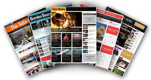 newspaper software online newspaper website template magazine