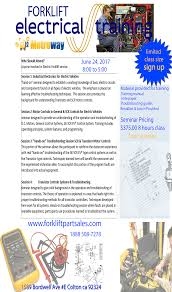 troubleshooting emergency lighting systems forklift mechanic certification and training program information