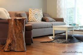 Making Wooden End Table by Tree Stump Table Diy