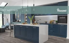navy blue and grey kitchen cabinets 21 amazing blue kitchen cabinet ideas in 2021 houszed