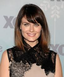 medium length haircut with side bang side fringe medium length