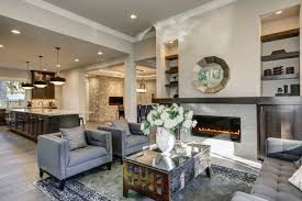 Living Room And Kitchen by Vancouver Custom Home Gallery Castle Crest Construction Builder