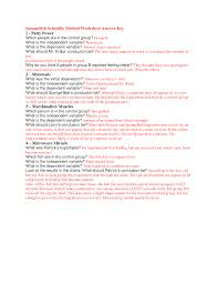 scientific method worksheet answers worksheets