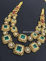 vintage necklace design images Emerald two rows vintage necklace goldieeeeeee pinterest jpg