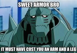 Fullmetal Alchemist Memes - sweet armor bro fullmetal alchemist know your meme
