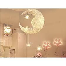 le en aluminium suspension de lune et étoiles lustre moderne pour