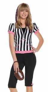 Ref Costumes Halloween Teen Tween Girls Football Referee Halloween Costume Ebay