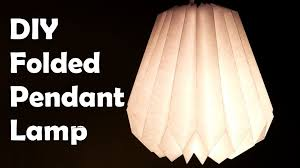 diy make a folded paper pendant lamp shade youtube