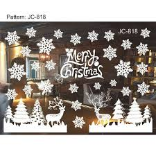 Christmas Window Decorations Snowflakes by Xmas Christmas Decoration Snow Flakes Window Stickers Winter