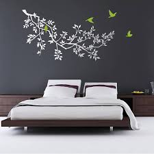 white wall stickers white and blue wall decal tree nursery for wall stickers spring branches white