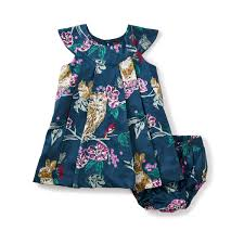caledonian forest baby dress tea collection