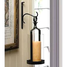 Wall Candle Sconces With Glass Sconce Wrought Iron Hurricane Wall Candle Sconces Hurricane