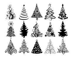 simple christmas tree silhouette cheminee website