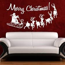 christmas wall art quote sticker merry christmas window decor