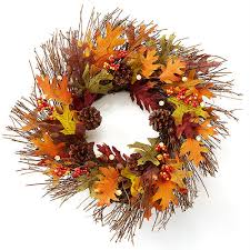fall harvest cordless pre lit 20 wreath at brookstone buy now