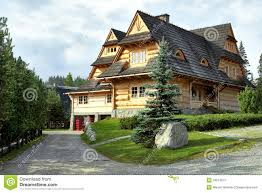 log house on the hill stock photography image 33274672