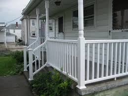 Front Porch Banisters Monterey Wood Porch Railing Ideas Christmas Decorating For Porch
