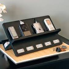 Electronic Charging Station Desk Organizer Organize Your Home Office On A Dime Bread Boxes Box And Office