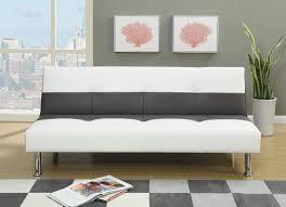 furniture fabulous faux leather futon for living room decor