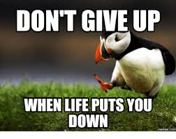 I Give Up Meme - don t give up when life puts you down dont give up meme on esmemes com