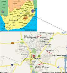 africa map study map of south africa showing the study area in relation to the