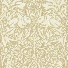 brer rabbit wallpaper a classic william morris floral and animal