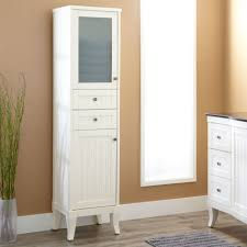 Bathroom Floor Storage Cabinet Bathrooms Design Bathroom Linen Storage Tall Corner Cabinet With