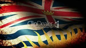 Flag British Columbia British Columbia Flag Waving Grunge Look Lizenzfreie Stock