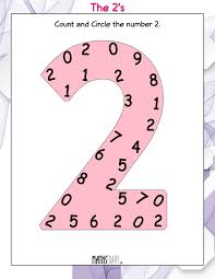 count and circle the numbers mathsdiary com