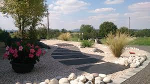 idee amenagement jardin devant maison massifs objectifs paysage