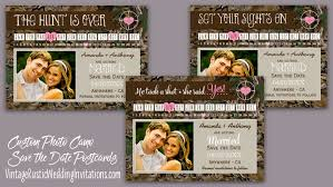 save the date wedding camo save the date cards vintage rustic wedding invitations