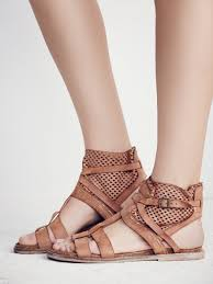 free people white dunes boot sandal in brown lyst