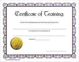 doc 580456 certificate of training template u2013 6 free training