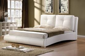 White King Size Bed Frame Merida Bed Frame 4ft 6 White Or Black Faux Leather
