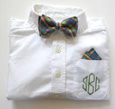 baby boy monogram shirt dress shirt and bow tie set for boys