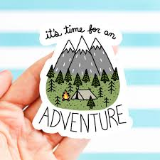 outdoorsy gift adventure stickers holiday gift vinyl