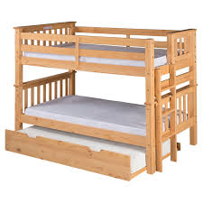 Twin Bed Camaflexi Santa Fe Mission Low Bunk Bed Twin Over Twin Bed End