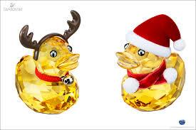 swarovski happy ducks santa reindeer
