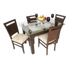 Wooden Dining Chairs Online India Aria Hudson Teak Wood Dining Set Woodys Furniture