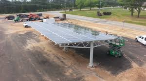 Solar Canopy by Fort Benning Cif Parking Lot Solar Canopy Fischer Consulting And