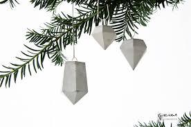 3 concrete ornaments concrete decor handmade