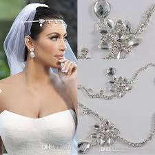 bridal hair accessories uk 2016 kardashia real images rhinestone beautiful shining